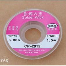 Оплётка СР-2015 для удаления припоя медь 1,5м x 2мм (2шт.)