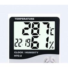 Метеостанция HTC-2 Часы Будильник Гигрометр Термометр Выносной датчик