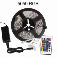 Светодиодная LED лента RGB-5050 5м, +Контролер+Пульт+БП