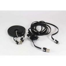Кабель, шнур USB-MICRO USB плоский провод 3 метра