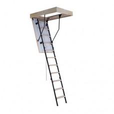 Раскладные чердачные лестницы. Комбинированные (дерево + метал) для помещений высотой 265 см и 280 см.