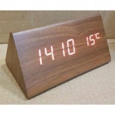 Деревянные Настольные часы VST-861 светодиодные