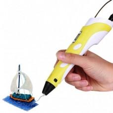 3D ручка для рисования с экраном 3д Ручка Pen2 MyRiwell с LCD дисплеем Желтая