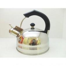 Чайник из нержавеющей стали А-Плюс 1324 со свистком, 2,5 л