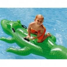 Надувной матрас игрушка INTEX плот Гигантский Крокодил Большой