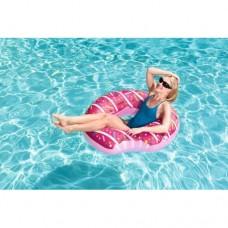Надувной круг для плавания пончик Bestway 36118: размер 107см, 2 цвета
