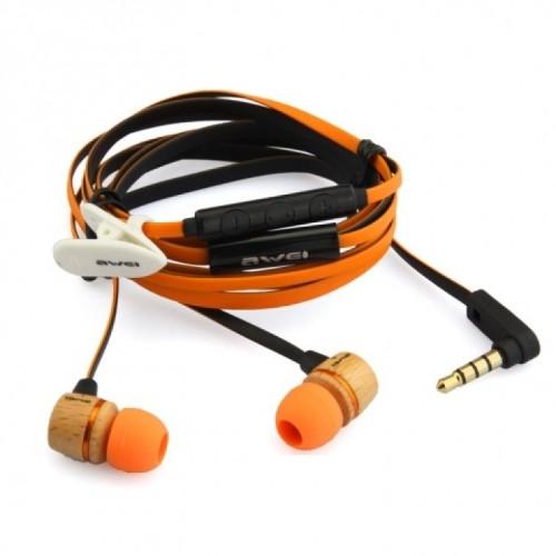 Вакуумные наушники для телефона AWEI ES-16HI с микрофоном e6e36d7ad9e34