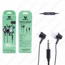 Вакуумные Наушники Remax RM-604 с микрофоном Mega Bass