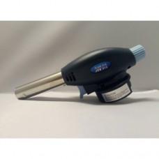 Газовая мини горелка (паяльная лампа) ручная туристическая Flame Gun темно-синяя