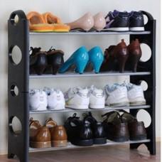 Стойка полка для обуви Stackable Shoe Rack, подставка органайзер обувь