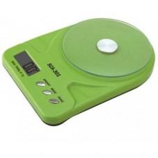 Кухонные Электронные Весы SСА 301 5 кг + батарейки Зеленый