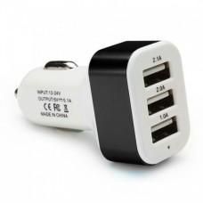 USB зарядка от прикуривателя в авто на 3 USB