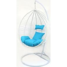 Підвісне крісло-гойдалка кокон B-183B (біло-голубе, коричневе, коричнево-сіре)