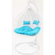 Підвісне крісло-гойдалка кокон B-183E (біло-голубе, коричневе, коричнево-сіре