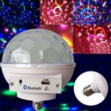 Светомузыка диско шар с цоколем Magic Ball Music MP3 плеер с bluetooth