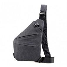 Мужская водонепронецаемая сумка Cross Body 6016 на плечо рюкзак слинг Серый