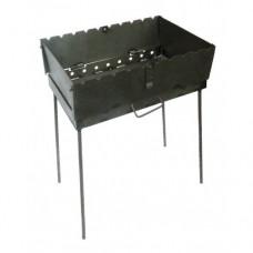Раскладной мангал чемодан 2 мм на 8 шампуров