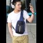 Рюкзак кросс-боди Bobby через плечо c защитой от карманников, с USB зарядным и портом для наушников синий
