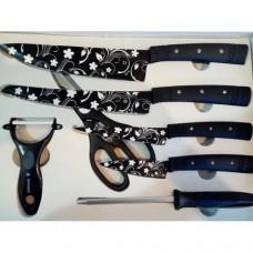 Набор кухонных ножей Kitchen King Professional KK21 Чёрные