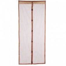 Антимоскитная сетка штора на магнитах Magic Mesh 100*210 см Коричневая