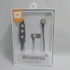 Беспроводные вакуумные Bluetooth JBL B009 SPORT магнит Чёрные с золотым