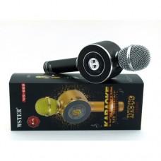 Беспроводной микрофон караоке блютуз WSTER WS-668 Bluetooth динамик USB Чёрный
