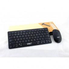 Беспроводная русская клавиатура mini и мышь keyboard UKC WI 1214 + приёмник Чёрная