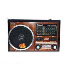"""Портативный радио приемник """"GOLON"""" RX-277LSD USB FM Коричневый с солнечной панелью"""