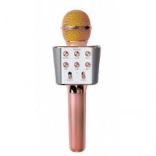 Беспроводной микрофон караоке блютуз WS-1688 Bluetooth динамик USB
