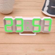 Электронные настольные LED часы с будильником и термометром Caixing CX-2218 белые (зеленная подсветка)