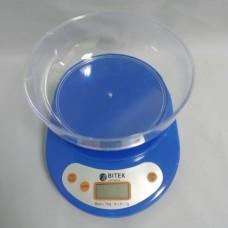 Электронные Кухонные Весы ВИТЕК до 7кг + батарейки Синие