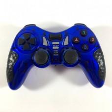 Беспроводной Джойстик 6 в 1 для ПК/PS2/PS3/PC360/ANDROID TV/WIN10 вибро Синий