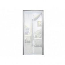 Анти москитная сетка штора на магнитах Magic Mesh 100*210 см Белая