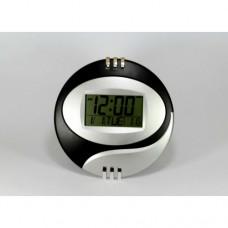 Электронные настенные часы Kenko КК 6870 с термометром Чёрные