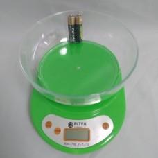 Электронные Кухонные Весы ВИТЕК до 7кг + батарейки Зелёные