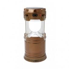 Кемпинговая LED лампа G 85 c POWER BANK Фонарь фонарик солнечная панель Золотая