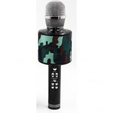 Беспроводной микрофон караоке блютуз K319 Bluetooth динамик USB Камуфляж