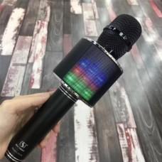 Беспроводной микрофон караоке блютуз YS 66 Bluetooth динамик USB Чёрный