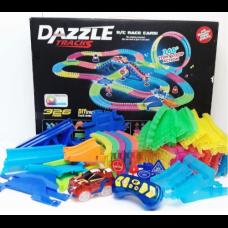Конструктор DAZZLE TRACKS 187 деталей с пультом управления 425см трасса с гоночной машинкой