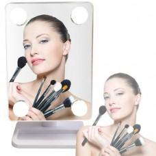 Зеркало для макияжа с LED подсветкой Large Led 360 Mirror 4 LED Белый