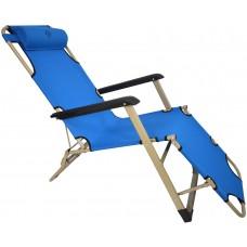Шезлонг лежак Bonro 180 см (желтый, красный, голубой, темно-синий, темно-зеленый)