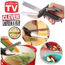 CLEVER CUTTER® 2 В 1 Умный Нож-Ножницы + Разделочная доска