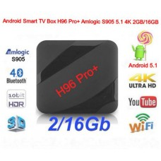Android Приставка Smart TV-Box H96 Pro Plus Amlogic S905 5.1 4K 3D WI-FI 2GB/16