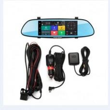 """Зеркало-Регистратор 7"""", Android, GPS, Wi-Fi, BT, 3G, 2 Камеры +Карты"""