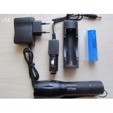 Тактический фонарик POLICE BL-1831-T6 50000W + Авто комплект